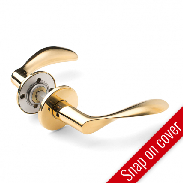 Arne Jacobsen door handle - AJ111 - Brass - Snap on cover - cc30/38mm