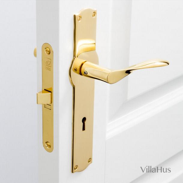 Klamka do drzwi - Mosiądz - Długi szyld - AJ97.AMALIENBORG.CC72