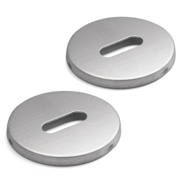 Dziurka od klucza Arne Jacobsen - owalna - stal szczotkowana - Snap-on-cover - ø50
