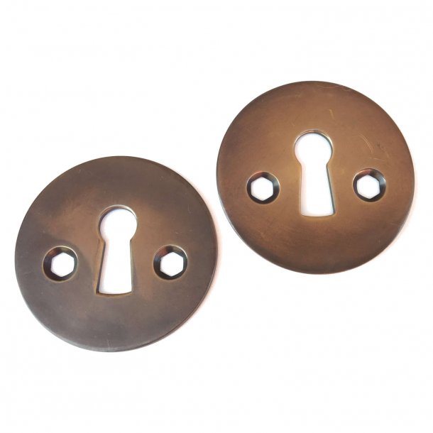 Arne Jacobsen old fasion escutcheon - Browned Brass