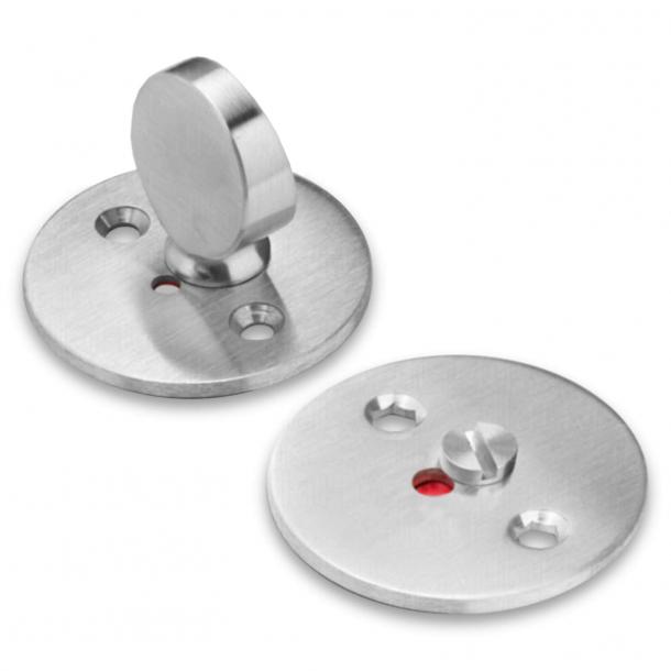 Blokada prywatności do WC - Stal szczotkowana - Arne Jacobsen - cc38mm