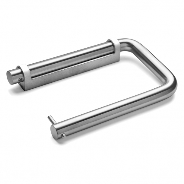 Toilet roll holder - d line - Brushed stainless steel