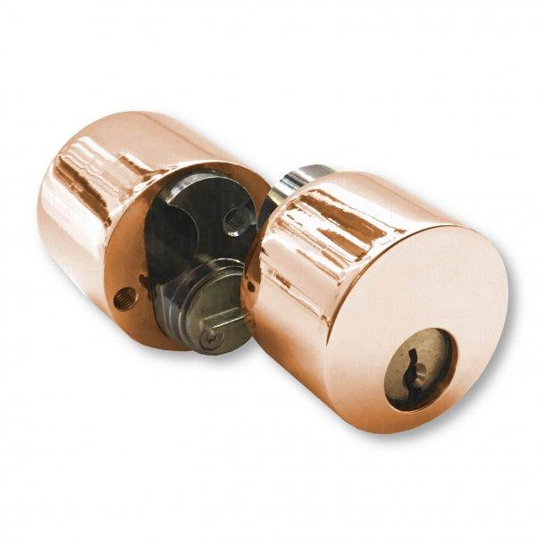 Cylinder kop dobbelt - Kobber - Uden lås