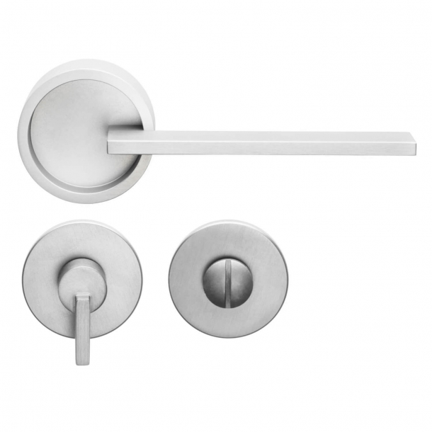 DND Door Handle with privacy lock - Silver - Marco Pisati - Model TIMELESS