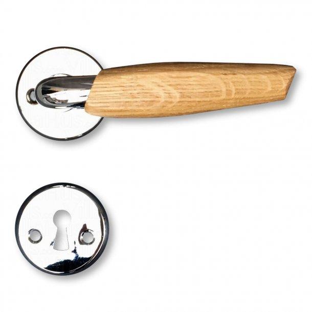Door handle - Chrome / Oak