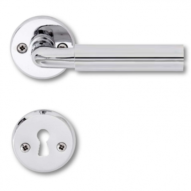 Door handle chrome and aluminium - Funkis
