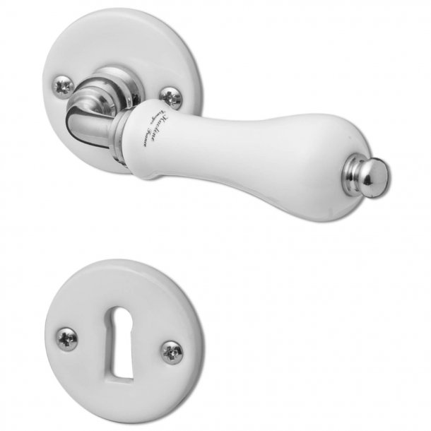 Door handle interior - Porcelain and Glossy Nickel