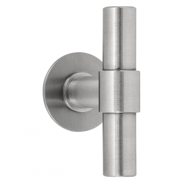 Formani Door handle - Satin stainless steel - Model PBT100G -ONE by Piet Boon