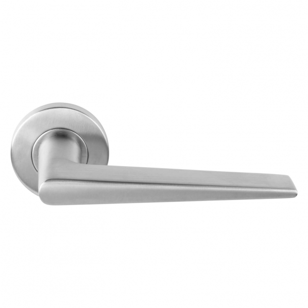 Formani Door handle - Satin stainless steel - Model LBXXI -Basics