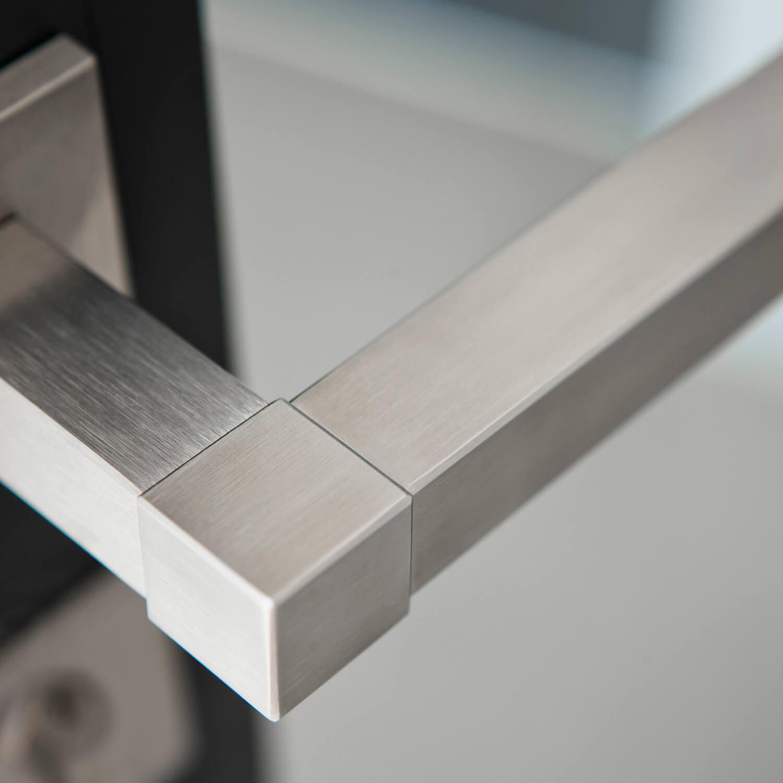 Dørgreb - SQUARE - stål - sort - Formani