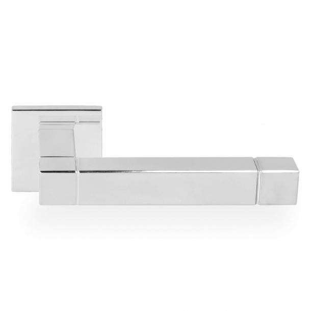 Dörrhandtag JB100 - Polerat rostfritt stål - Modell SQUARE - Design av Jan des Bouvrie