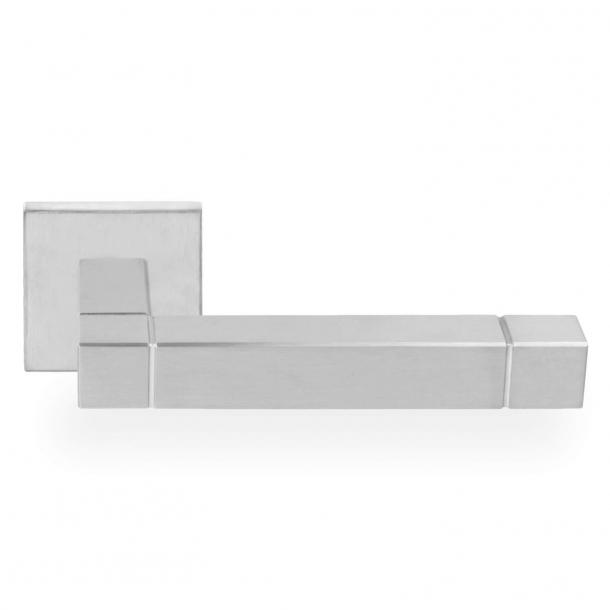 Klamka do drzwi - Stal szczotkowana - Formani - Model Square - Jan des Bouvrie