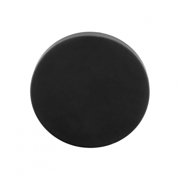Blank escutcheon - BBB53 - Matt black - Model TENSE - Design by Bertram Beerbaum