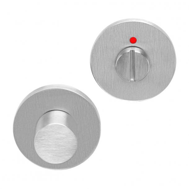 Privacy lock - BBWC53 - Brushed steel - Model TENSE - Design by Bertram Beerbaum