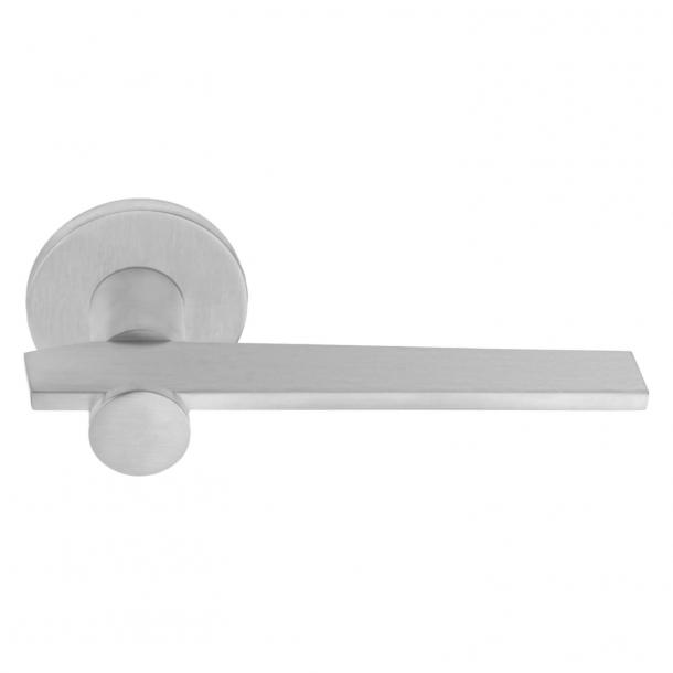 Door handle BB100 - Brushed steel - Model TENSE - Design by Bertram Beerbaum