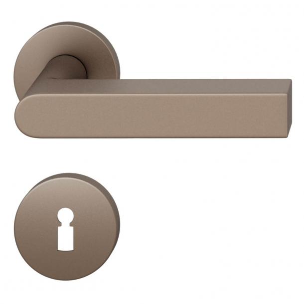 FSB Door handle - Medium bronze brushed aluminium - Peter Bastian - Model 1001