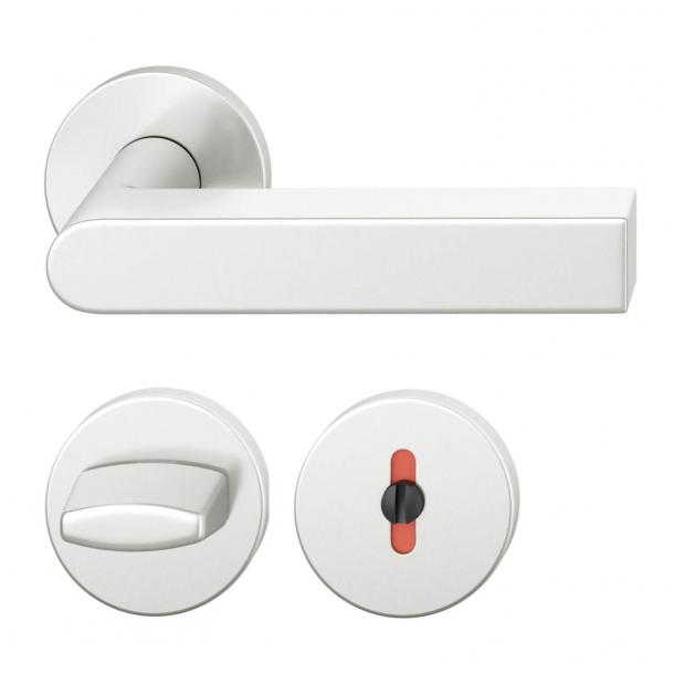 FSB Door handle with privacy lock - Brushed aluminium - Peter Bastian - Model 1001
