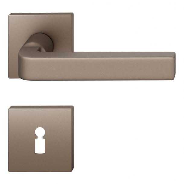 FSB Door handle - Medium bronze brushed aluminium - David Chipperfield - Model 1004