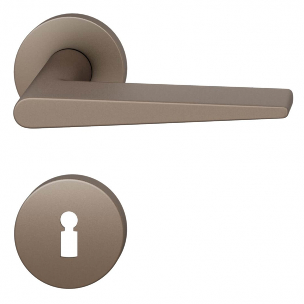 FSB Dørgreb - Medium bronze børstet aluminium - Johannes Potente - Model 1005