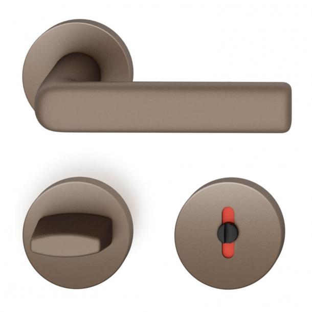 FSB Türgriff mit Toilettenverkleidung - Mittlere Bronze - Hans Poelzig - Modell 1012