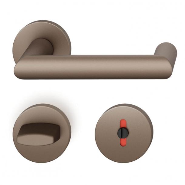 FSB Door handle with privacy lock - Medium bronze - FSB Workshop - Model 1016
