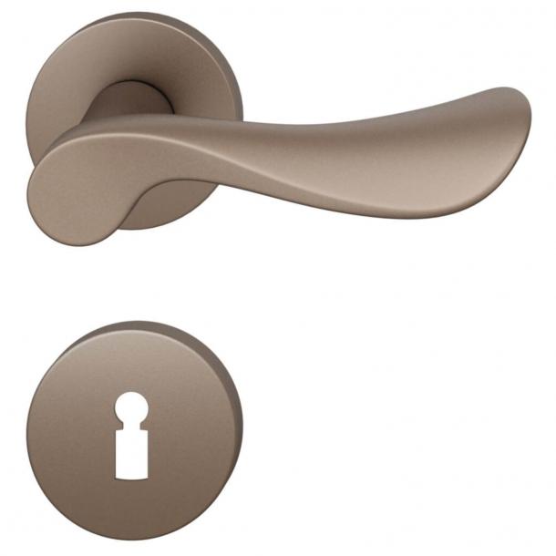 FSB Door handle - Medium bronze brushed aluminium - Johannes Potente - Model 1020