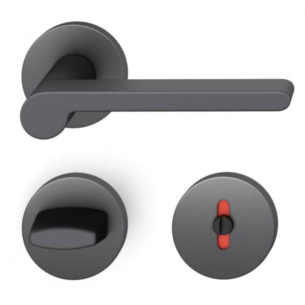 FSB Dørgreb med toiletbesætning - Sort aluminium - FSB Workshop - Model 1021