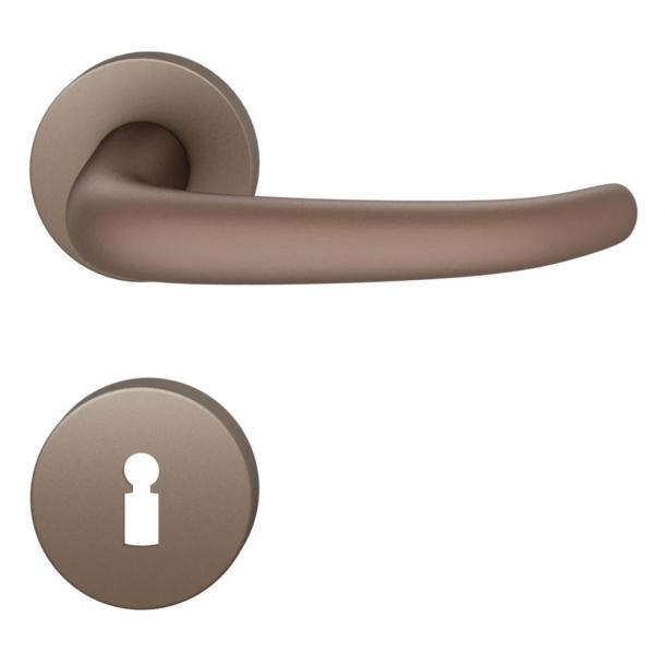 FSB Door handle - Medium bronze brushed aluminium - Johannes Potente - Model 1023