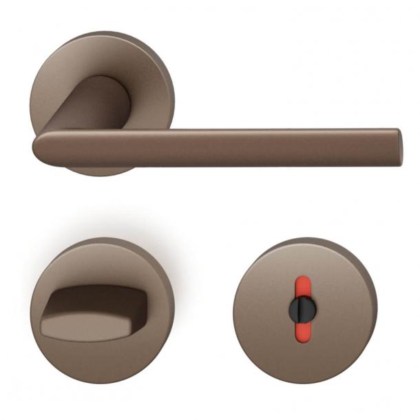 FSB Door handle with privacy lock - Medium bronze - FSB Workshop - Model 1025
