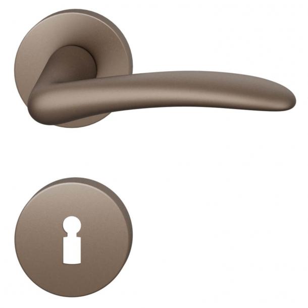FSB Door handle - Medium bronze brushed aluminium - Johannes Potente - Model 1027