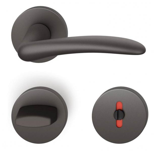 FSB Dørgreb med toiletbesætning - Mørk bronze - Johannes Potente - Model 1027