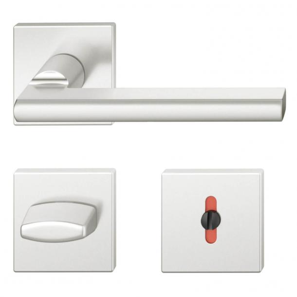 FSB Door handle with privacy lock - Brushed aluminium - Heike Falkenberg - Model 1035
