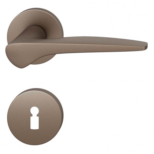 FSB Dörrhandtag - Medium brons borstat aluminium - Johannes Potente - modell 1051