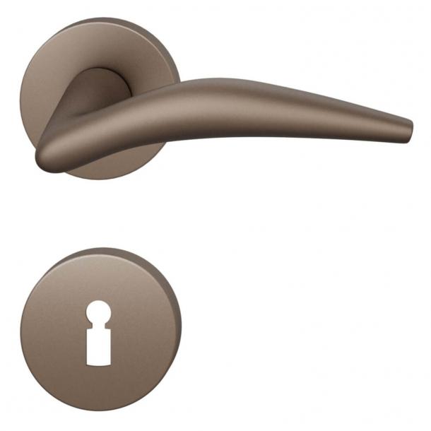 FSB Door handle - Medium bronze brushed aluminium - Jan Roth - Model 1057