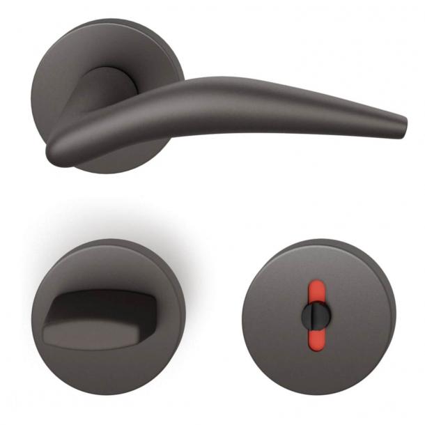 FSB Door handle with privacy lock - Dark bronze - Jan Roth - Model 1057