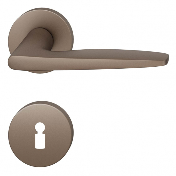 FSB Door handle - Medium bronze brushed aluminium - Johannes Potente - Model 1058