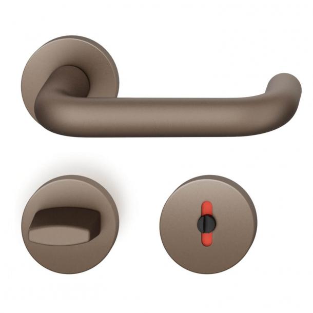 FSB Door handle with privacy lock - Medium bronze - FSB Workshop - Model 1070