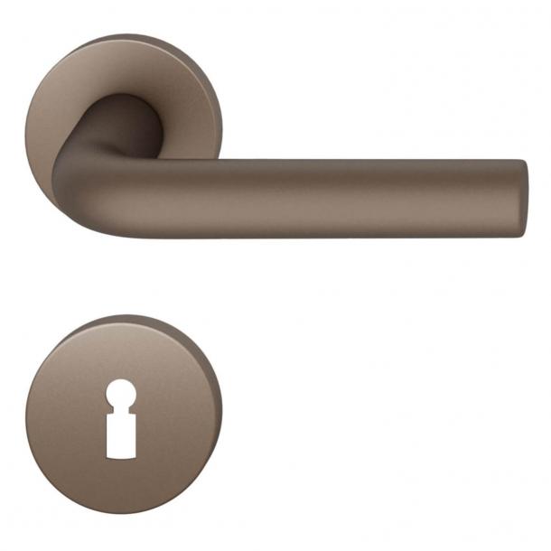 FSB Door handle - Medium bronze brushed aluminium - FSB Workshop - Model 1075