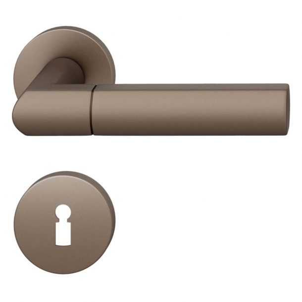 FSB Door handle - Medium bronze brushed aluminium - Christoph Ingenhoven's - Model 1078