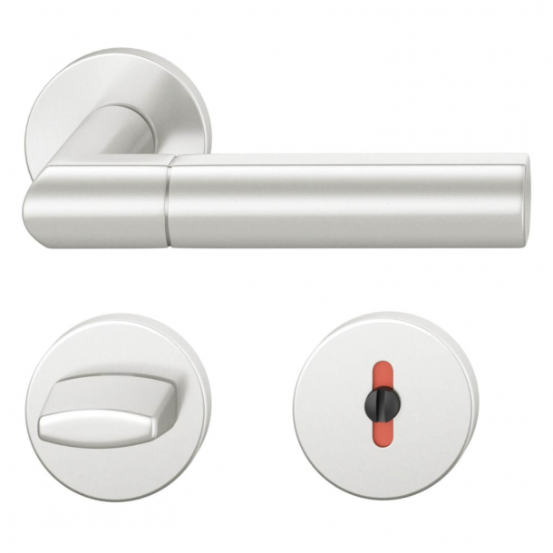 FSB Door handle with privacy lock - Brushed aluminium - Christoph Ingenhoven's - Model 1078