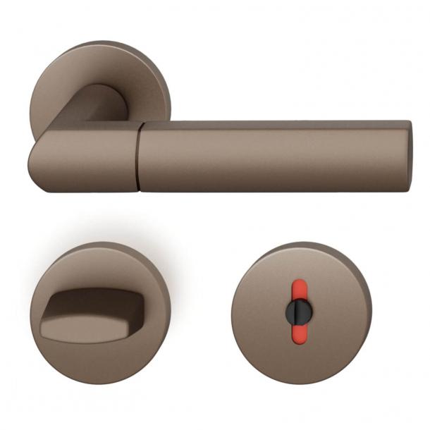 FSB Door handle with privacy lock - Medium bronze - Christoph Ingenhoven's - Model 1078