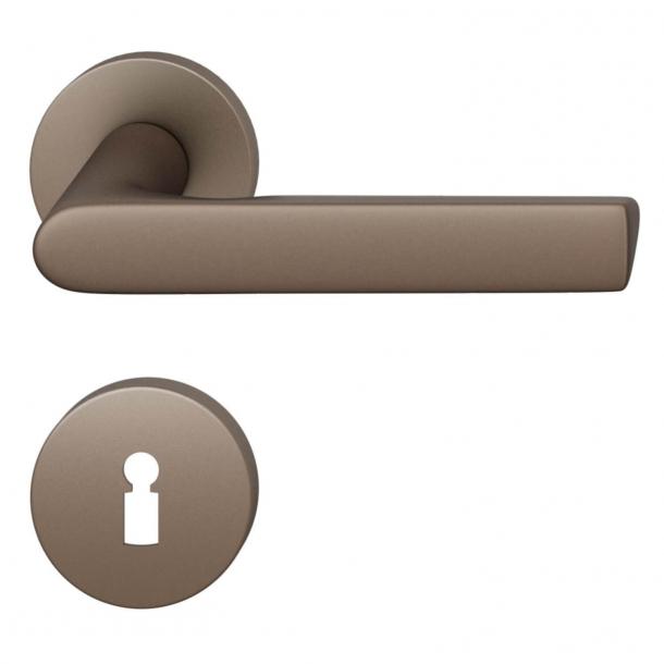 FSB Door handle - Medium bronze brushed aluminium - Helmut Jahn - Model 1093