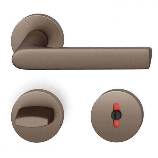 FSB Door handle with privacy lock - Medium bronze - Helmut Jahn - Model 1093