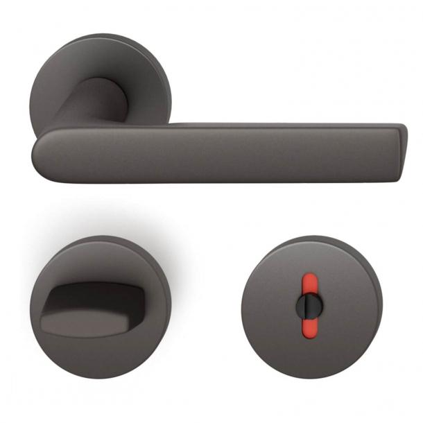 FSB Dørgreb med toiletbesætning - Mørk bronze - Helmut Jahn - Model 1093