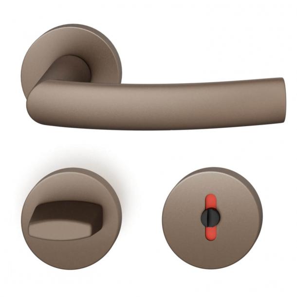 FSB Klamka z nakładką toaletową - Średni brąz - Hartmut Weise - Model 1107