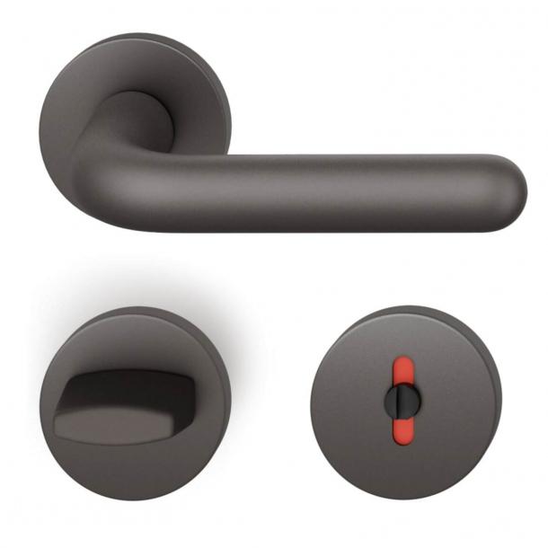 FSB Dörrhandtag med toalettbeklädnad - Mörk brons - Ludwig Wittgenstein - modell 1147