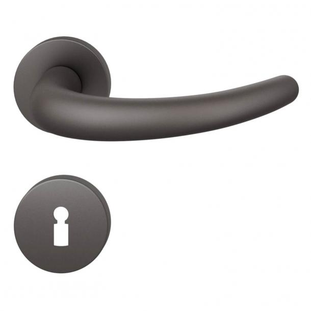 FSB Door handle - Dark bronze brushed aluminium - FSB Workshop - Model 1160