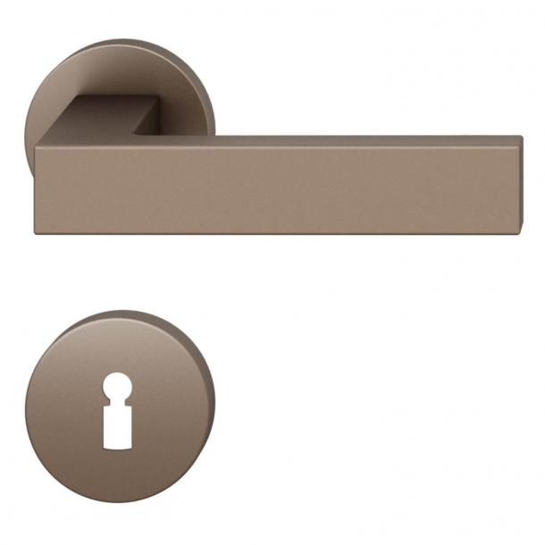 FSB Door handle - Medium bronze brushed aluminium - Hartmut Weise - Model 1251