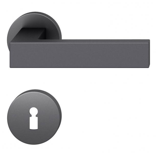 FSB Door handle - Black aluminium - Hartmut Weise - Model 1251