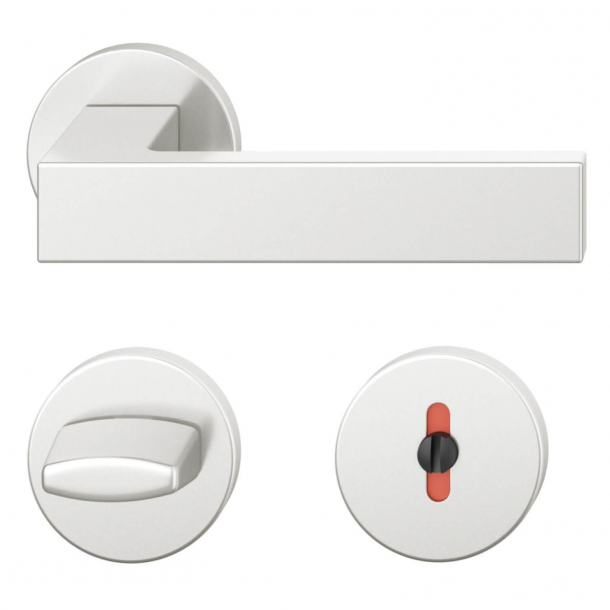FSB Door handle with privacy lock - Brushed aluminium - Hartmut Weise - Model 1251